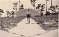 Jim Asher Standing in Front of the Stuart Band Shell, 1943