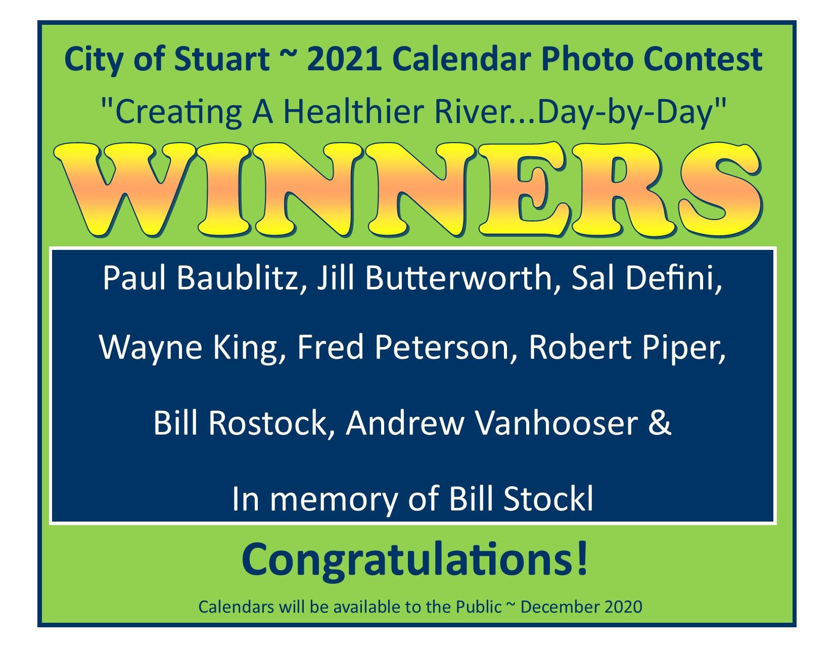 2021 WINNERS Calendar Photo Contest