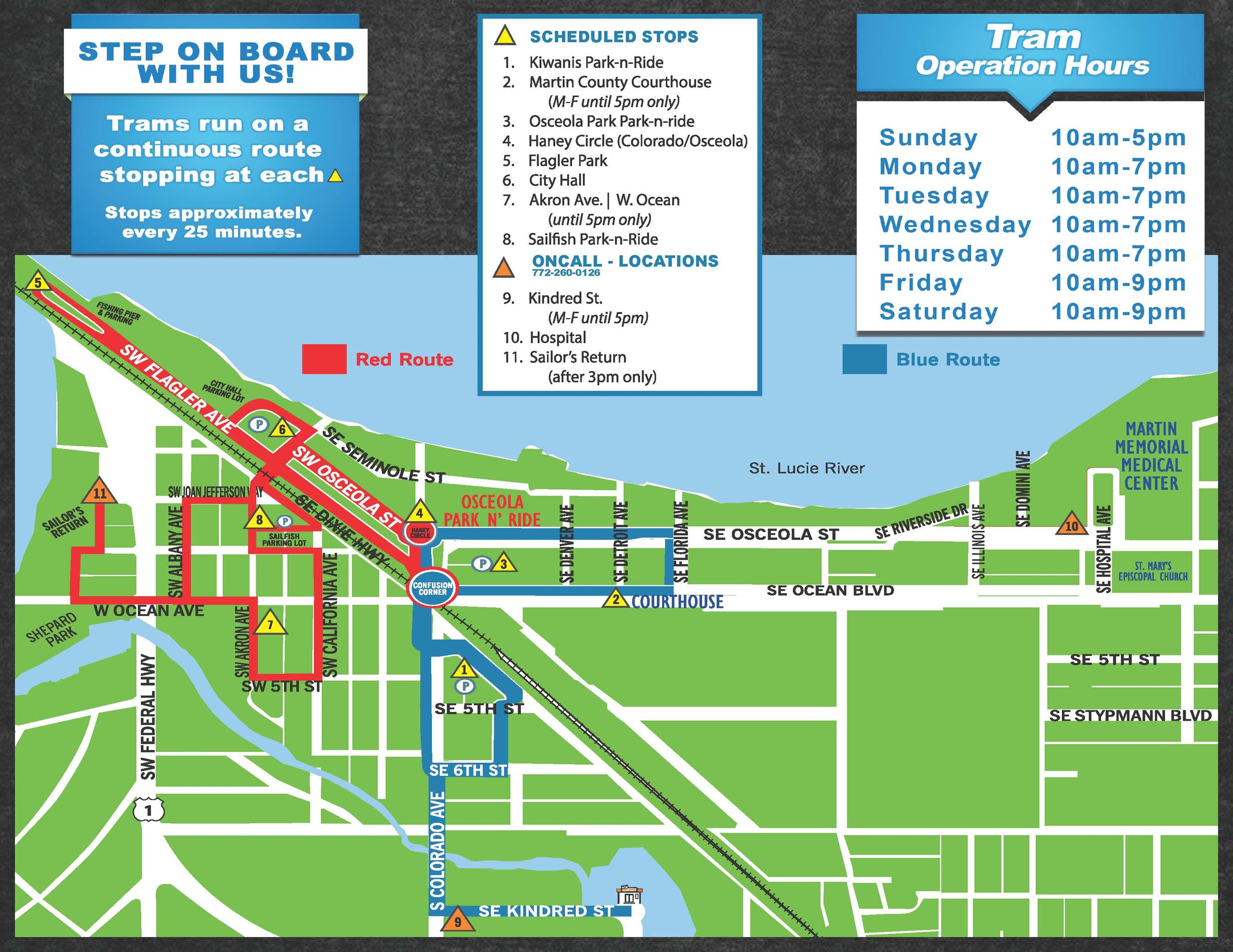 Downtown Stuart TRAM Routes