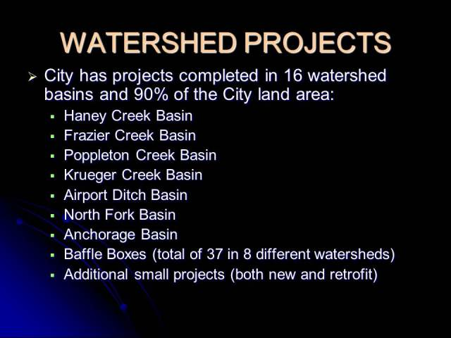 Watershed Projects