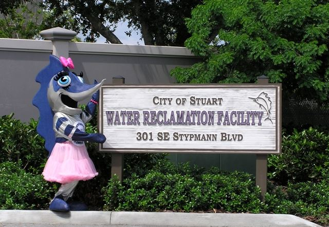 City of Stuart Water Reclamation Facility Sign