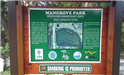 Mangrove Park Sign Closeup