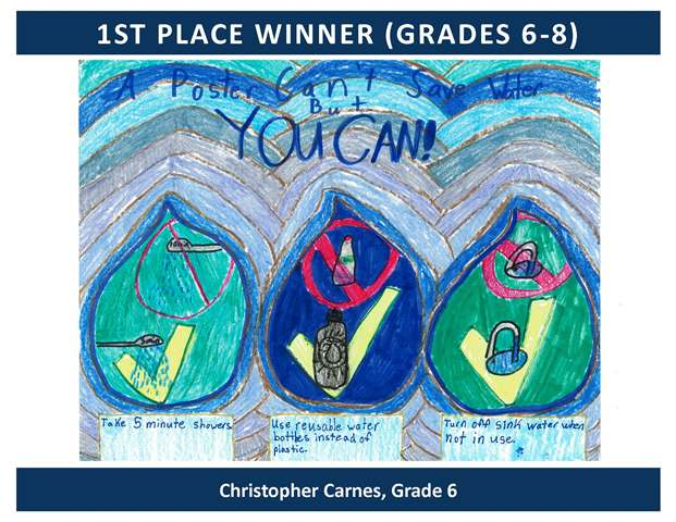 1st Place Winner Grades 6 through 8