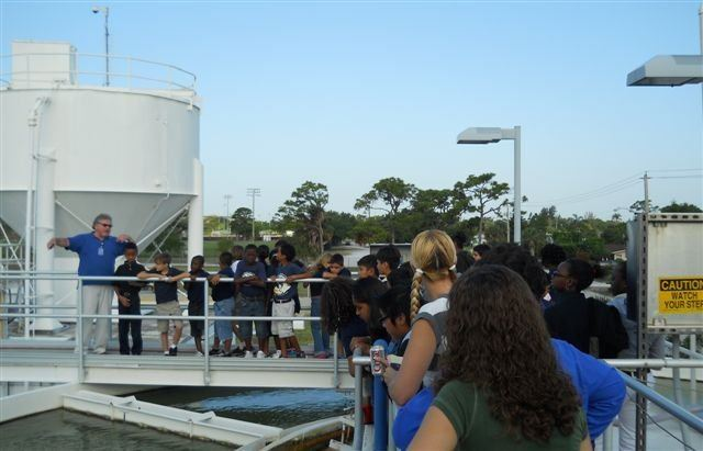 Kids at Water Plant Tours 1