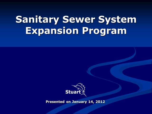 Sewer Expansion Slide 1