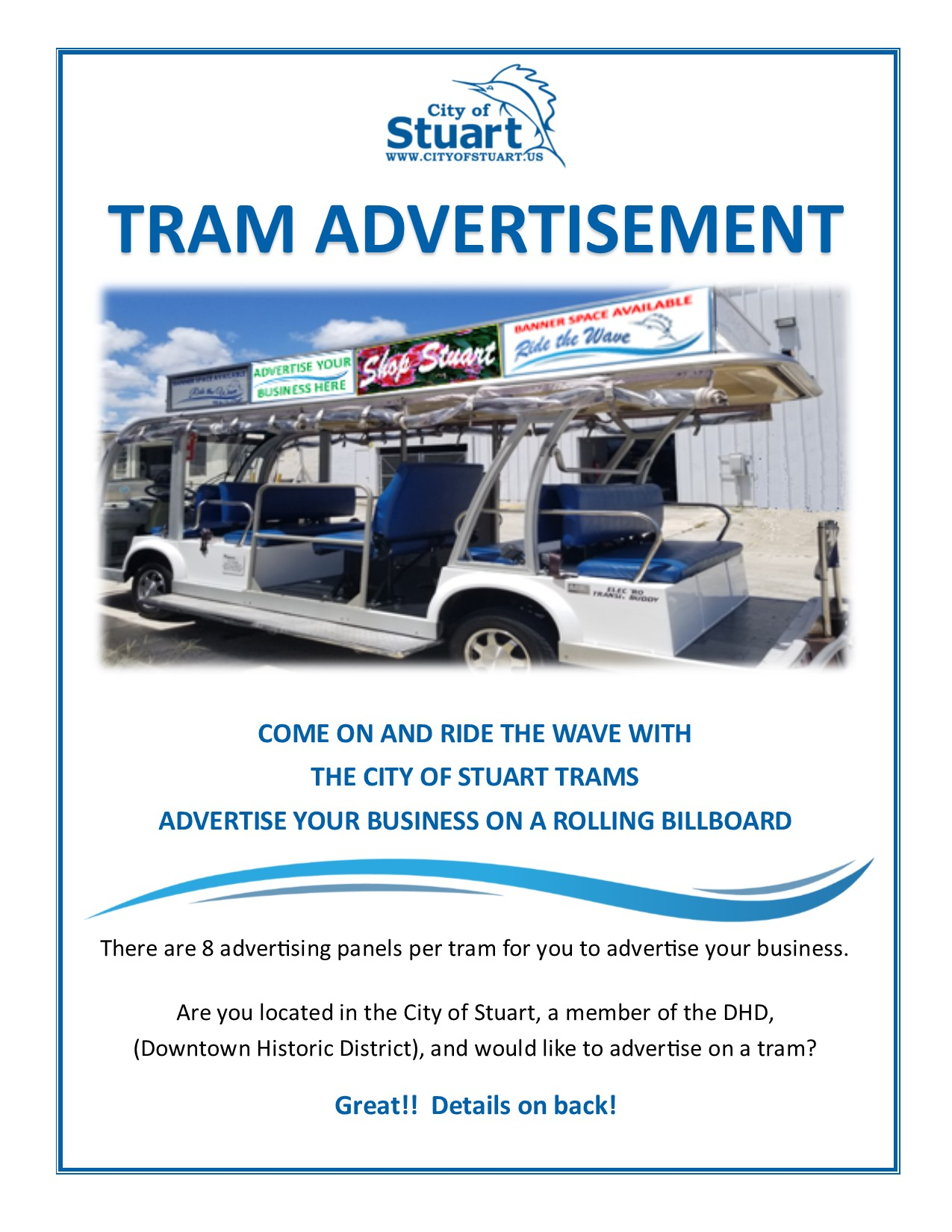 TRAM Advertisement Flyer pg 1