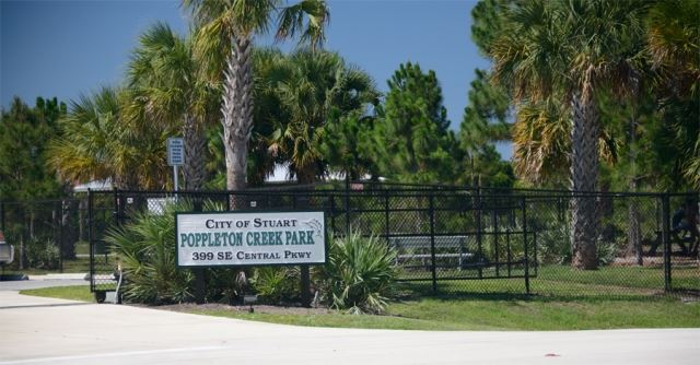 Poppleton Creek Dog Park Sign