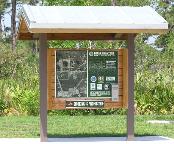 Park Haney Creek Trail and Dog Park Sign