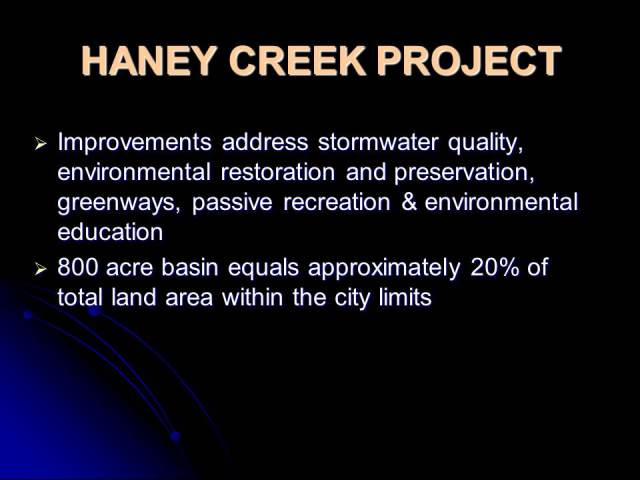 Haney Creek Project