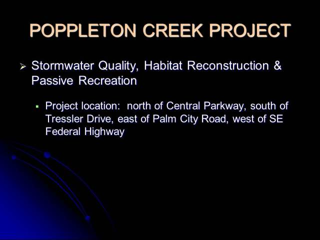 Poppleton Creek Project