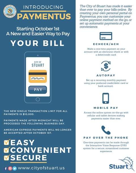 Payment Options for Customers | Stuart, FL